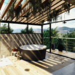 Exterior inox bathroom